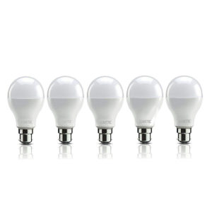 Lumetic Base B22 9-Watt LED Bulb (Pack of 5, Cool White)