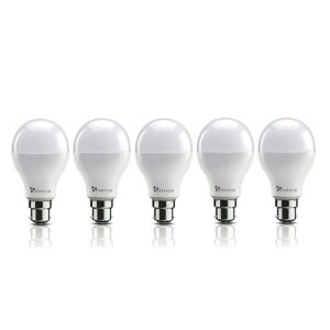Syska Base B22 9-Watt LED Bulb (Pack of 5, Cool White)